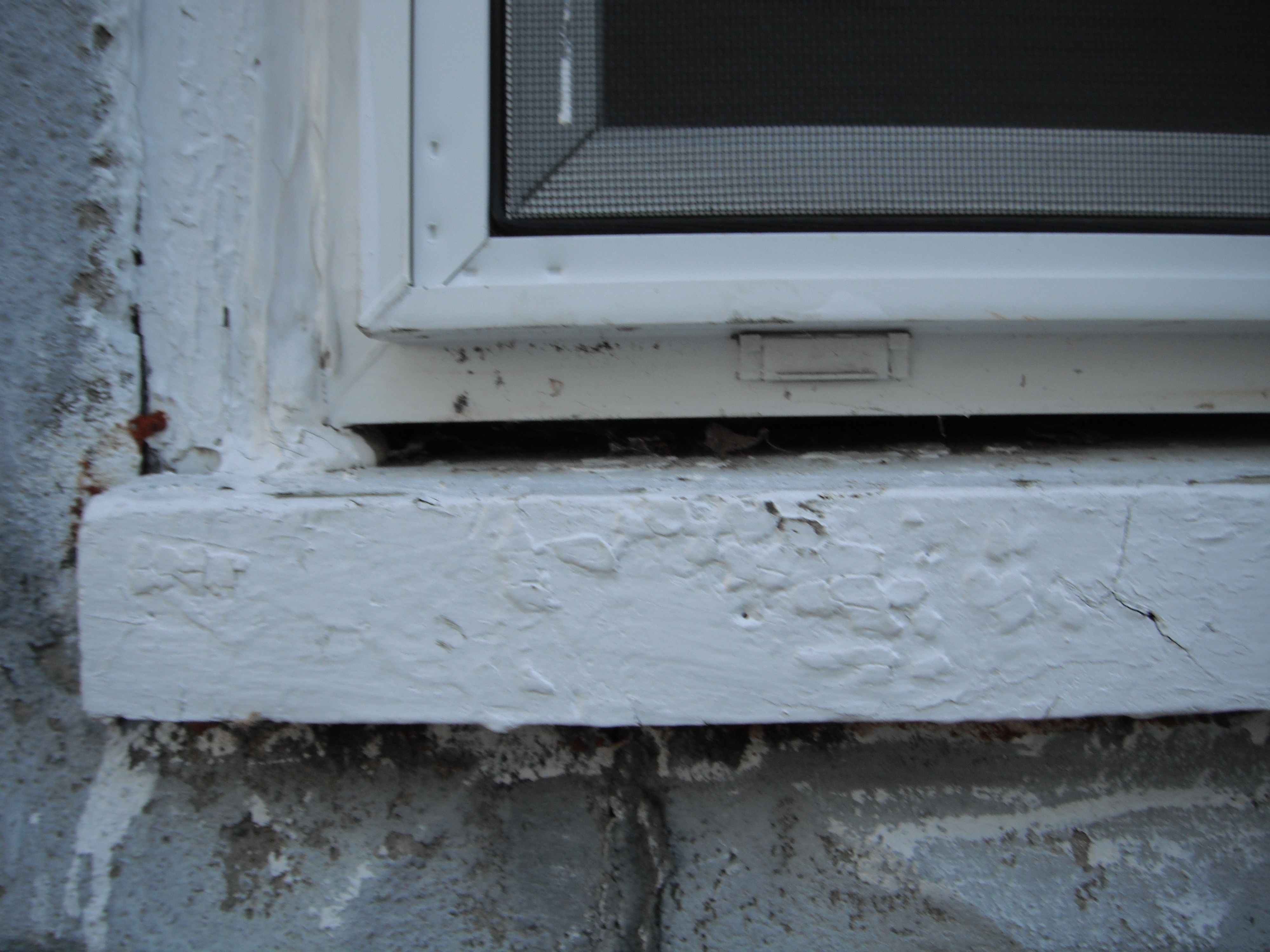 Note gap above sill but under window what s up with that for Window sill replacement
