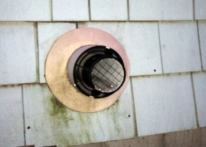 Typical direct vent exhaust as seen from outside the house.
