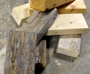 Any scraps of wood will work, and old wood you may have sitting in the shed or garage are fine.
