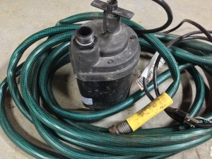 Even if you only have an inexpensive pump with a garden hose, it will handle smaller amounts of flooding.