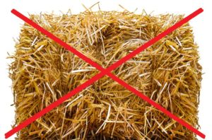 Do NOT collect hay/straw for use in a vegetable garden.